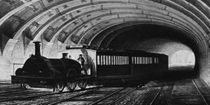 1863 Metropolitan Underground train.