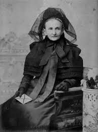 A Victorian lady in full mourning