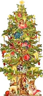 The Christmas tree in Mme Goosen's shop window