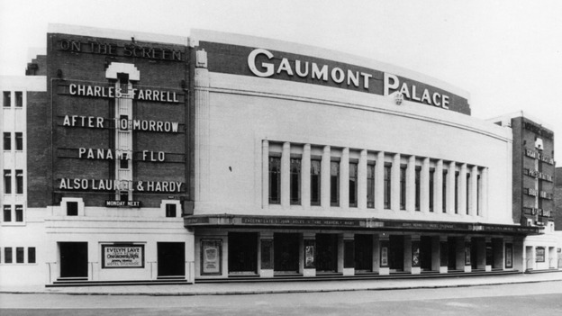 Gaumont palace Cinema, opened in 1932. Now the Apollo Theatre, a listed Art Deco Building.