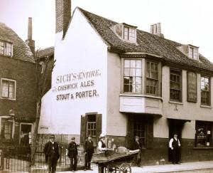 18th century buildings in Queen Caroline Street (no longer existing)